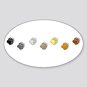 BEAR PRIDE PAWS/REVERSE Oval Sticker