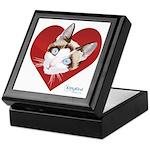 Kitty Kind Valentine's Red Heart Cat Keepsake Box