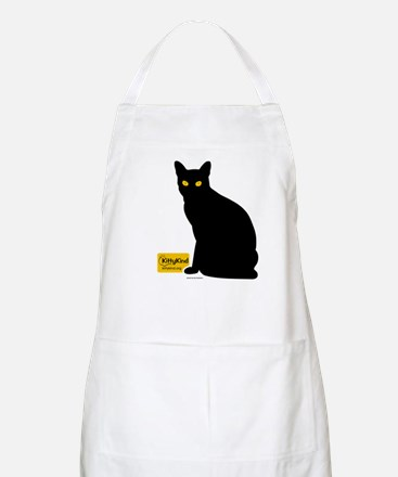 Kitty Kind Black Cat Silhouette Apron