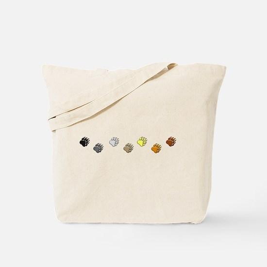 BEAR PRIDE PAWS/REVERSE Tote Bag