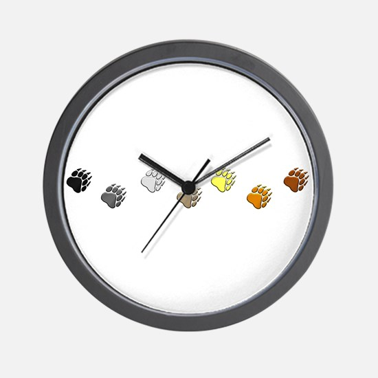 BEAR PRIDE PAWS/REVERSE Wall Clock
