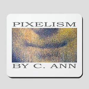 Mona Lisa PIXELISM by C. Ann Computer Mousepad