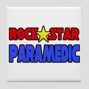 """Rock Star Paramedic"" Tile Coaster"