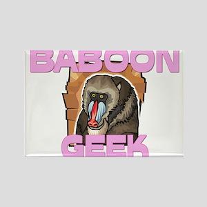 Baboon Geek Rectangle Magnet
