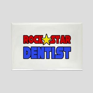 """Rock Star Dentist"" Rectangle Magnet"