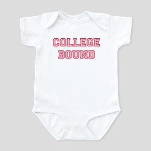 College Bound Infant Bodysuit Pink Lettering