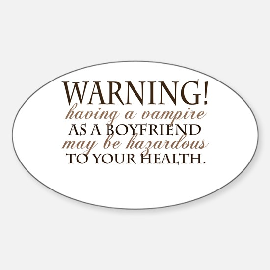 Warning! Oval Decal