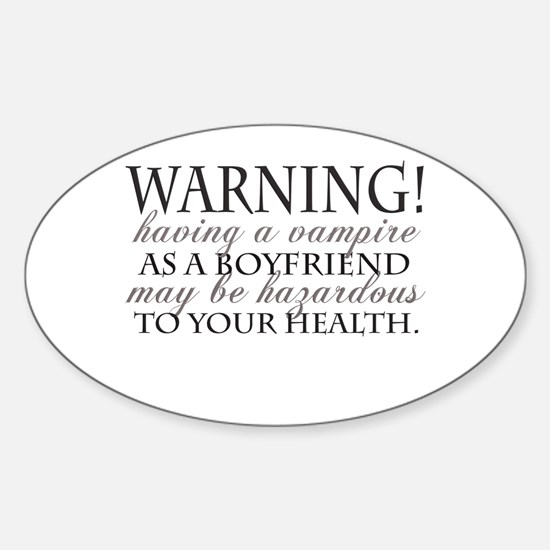 Warning! Black Oval Decal