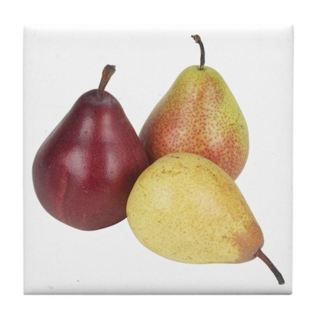 Some Pears On Your Tile Coaster