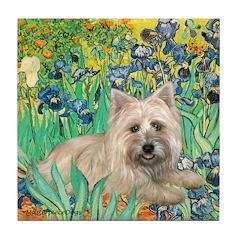 Irises/Cairn #4 Tile Coaster