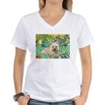 Irises/Cairn #4 Women's V-Neck T-Shirt