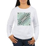Turquoise Tile Pattern Long Sleeve T-Shirt