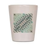 Turquoise Tile Pattern Shot Glass