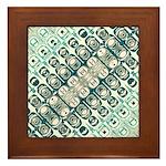 Turquoise Tile Pattern Framed Tile