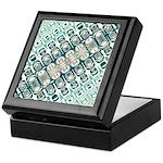 Turquoise Tile Pattern Keepsake Box