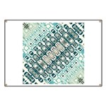 Turquoise Tile Pattern Banner