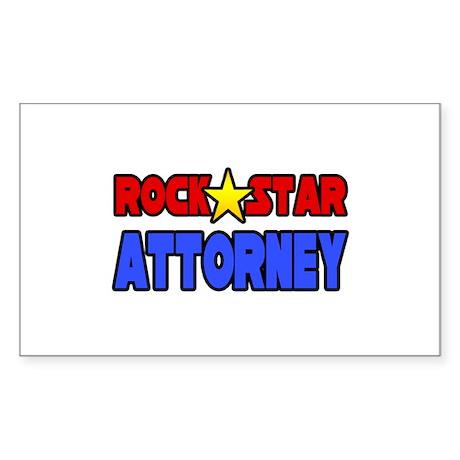 """Rock Star Attorney"" Rectangle Sticker"