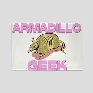 Armadillo Geek Rectangle Magnet