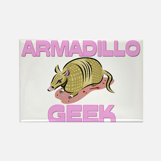 Armadillo Geek Rectangle Magnet