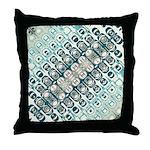 Turquoise Tile Pattern Throw Pillow