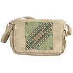Turquoise Tile Pattern Messenger Bag
