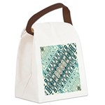 Turquoise Tile Pattern Canvas Lunch Bag