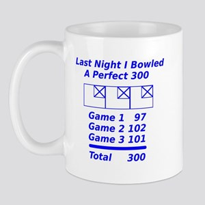 Perfect Bowling Score Mug