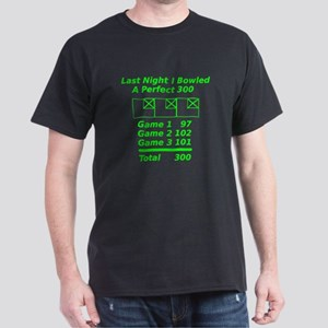Perfect Bowling Score Dark T-Shirt