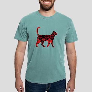 Red flower cat T-Shirt