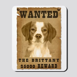 """Wanted"" Brittany Mousepad"