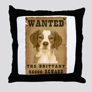"""""""Wanted"""" Brittany Throw Pillow"""