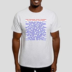 Women Love Dating Snipers Light T-Shirt