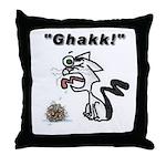 Ghakk... It's a Hairball Throw Pillow