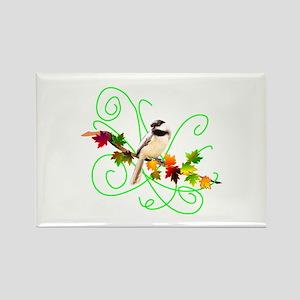 Chickadee Design Rectangle Magnet