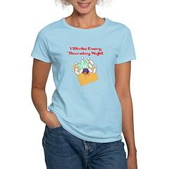 Thursday Night Strike Bowler Women's Light T-Shirt