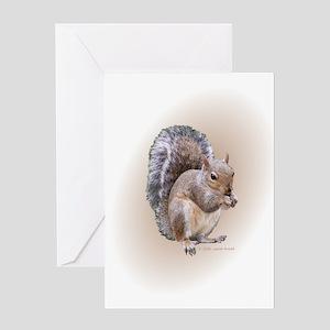 Squirrel Eating (blank) Greeting Card