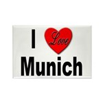 I Love Munich Rectangle Magnet (10 pack)