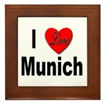 I Love Munich Framed Tile