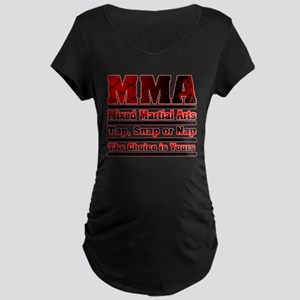 MMA Mixed Martial Arts - 3 Maternity Dark T-Shirt