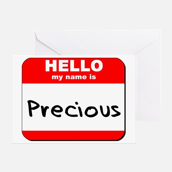 Hello my name is Precious Greeting Card