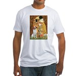Kiss/Brittany Spaniel Fitted T-Shirt