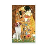 Kiss/Brittany Spaniel Sticker (Rectangle)