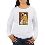 Kiss/Brittany Spaniel Women's Long Sleeve T-Shirt