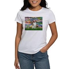 Lilies 2/Brittany Spaniel Women's T-Shirt