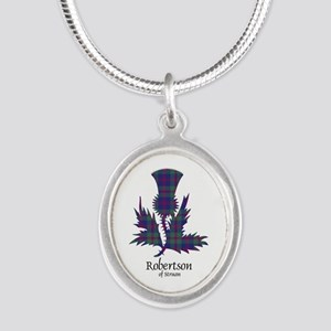 Thistle-RobertsonStruan Silver Oval Necklace