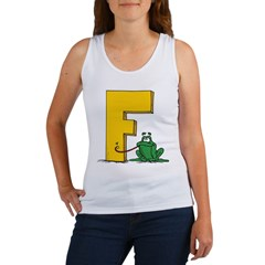 F is for Frog Women's Tank Top