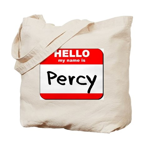 Hello my name is Percy Tote Bag