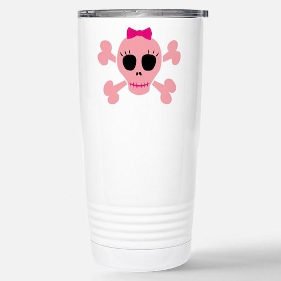 Funny Pink Skull Stainless Steel Travel Mug