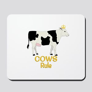 Cows Rule Golden Crown Mousepad