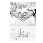 25th Silver Wedding Postcards (package Of 8)
